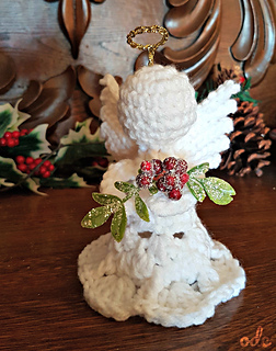 Mistletoe Christmas Angel Ornament