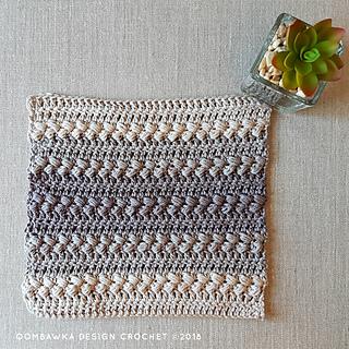 Elegant Washcloth Pattern. Free Crochet Pattern from Oombawka Design Crochet. #CALCentral