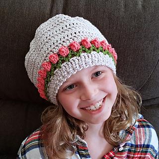 Tulip Stitch Hat Pattern. Free Crochet Pattern in 11 sizes from Oombawka Design Crochet.