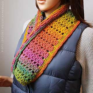 Fall Carnival Scarf Pattern. Free Pattern from Oombawka Design Crochet. #scarfofthemonthclub2018