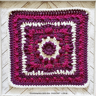Magic Menhirs Afghan Square. Free Afghan Block 12 x 12 inches. Oombawka Design Crochet #mooglycal2018