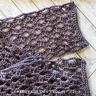 Winter Melancholy Scarf Pattern. Free Crochet Pattern. Oombawka Design Crochet.