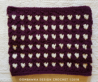 Anahata Cowl Pattern. Free Crochet Pattern from Rhondda Mol of Oombawka Design Crochet. Make the matching hat and make a crocheted set!