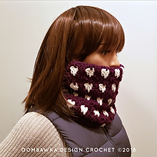 Anahata Cowl Pattern. Free Crochet Pattern from Rhondda Mol of Oombawka Design Crochet. Make the matching hat and make a crocheted set!