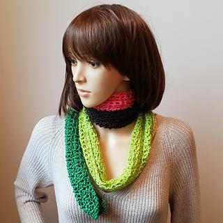 Watermelon Lace Scarf Pattern. Oombawka Design Crochet. Free Crochet Pattern #scarfofthemonthclub2019 CAL