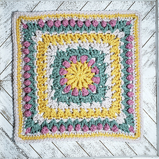 A Little Bit of This Afghan Square Pattern. Free Crochet Pattern by Rhondda Mol at Oombawka Design Crochet. #bamcal2019