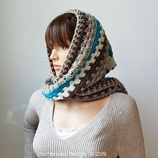 Winter's Coming Hooded Scarf Pattern. Free Crochet Pattern by Rhondda Mol, Oombawka Design Crochet. #scarfofthemonthclub2019