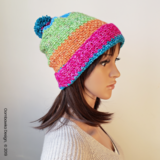 Amelia Hat Pattern. Rhondda Mol. Oombawka Design Crochet.
