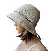 Basic Crochet Sun Hat Pattern. Rhondda Mol. Oombawka Design Crochet #scarfhatofthemonthclub2020