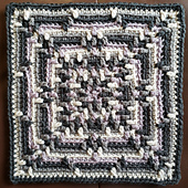 October Crochet Square - Designed by Rhondda Mol @oombawkadesigncrochet