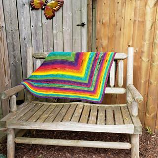 Brighter Days Ahead - Rainbow Triangle Shawl Scarf - Rhondda Mol