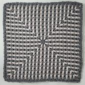 Don't Blink Square. Designed by Rhondda Mol, Oombawka Design Crochet.