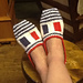Color Block Slippers pattern