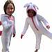 Bunny kids onesie pyjamas pattern