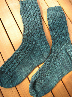Lacy Mock Cable Socks