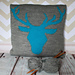 Woodland Deer/Stag Head Cushion Cover pattern