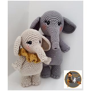 SWC LARGE ELEPHANT Crochet Pattern Amigurumi Crochet | Etsy | 320x320