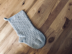 Snowflakes Christmas Stocking Crochet Pattern