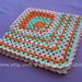 Asymmetrical granny square pattern