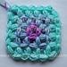 Jasmine Stitch No. 2- 4 petals with puffs in the round  pattern