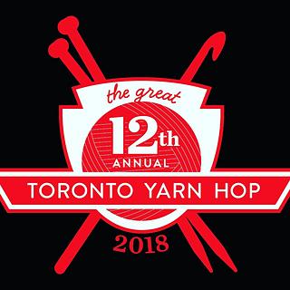 [Image Description: Great Toronto Yarn Hop Logo.  Text Reads: 12th Annual Toronto Yarn Hop.]