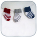 Simple striped baby socks pattern