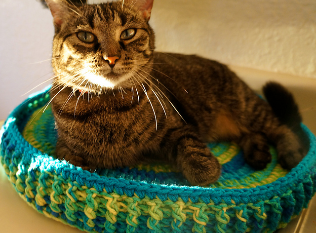 20 Free Crochet Cat Bed & House Patterns (With images) | Crochet ... | 472x640