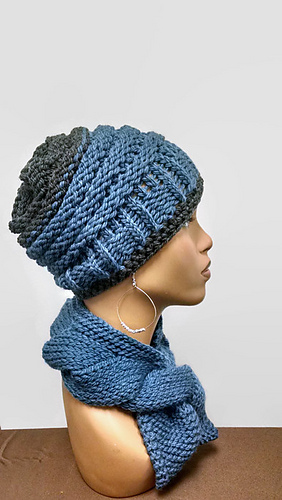 Ravelry: Loom Knit Chunky Beanie pattern by ScarFanatic1