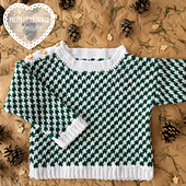 Crocheted 'Tis The Season Sweater by Claire Montgomerie, featured in Pretty Little Things, Issue 10 FESTIVE