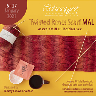 The Twisted Roots Scarf MAL starting 6 January 2021