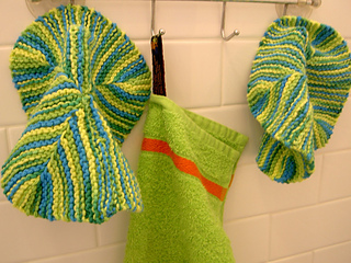 lime 4 corner dishcloths