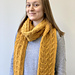 Winding Cables Scarf pattern