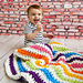 Rainbow Stripes Baby Blanket pattern