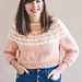 Cropped Holiday Knit Sweater pattern
