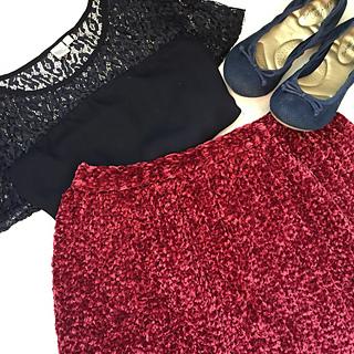 Velvet Crochet Skirt