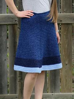 Jean Skirt Crochet Pattern