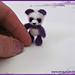 Miniature Purple Panda pattern