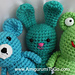 Wee Frog Bear and Bunny pattern