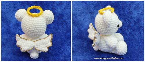 DIY Amigurumi Crocheted amigurumi angel showing / Angel amigurumi ...   216x500