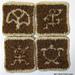 Hawaiian Petroglyph Coaster Set pattern