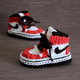 Modern sneakers for babies pattern