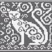 Spirit Cat Knitting Charts pattern