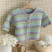 #03 Eyelet Stripe Jacket pattern