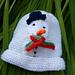 Snowman Baby Hat pattern