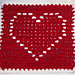 Heart Square 12x12 pattern