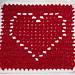 Heart Square 12x12 pattern