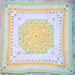 Lemony Lime Citrus Square pattern
