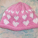 I Love You Hearts Knit Hat pattern