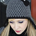 Cat Ears Hat with cute bow pattern