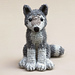 Woolfie the realistic wolf pattern